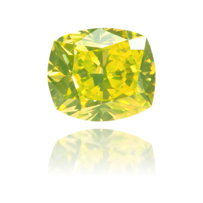 Natural Green Diamond Square 0.25 ct Polished