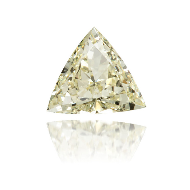 Natural Yellow Diamond Triangle 0.30 ct Polished