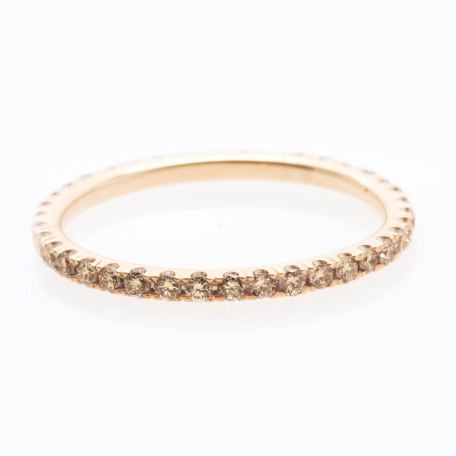 Champagne Diamond Eternity Ring