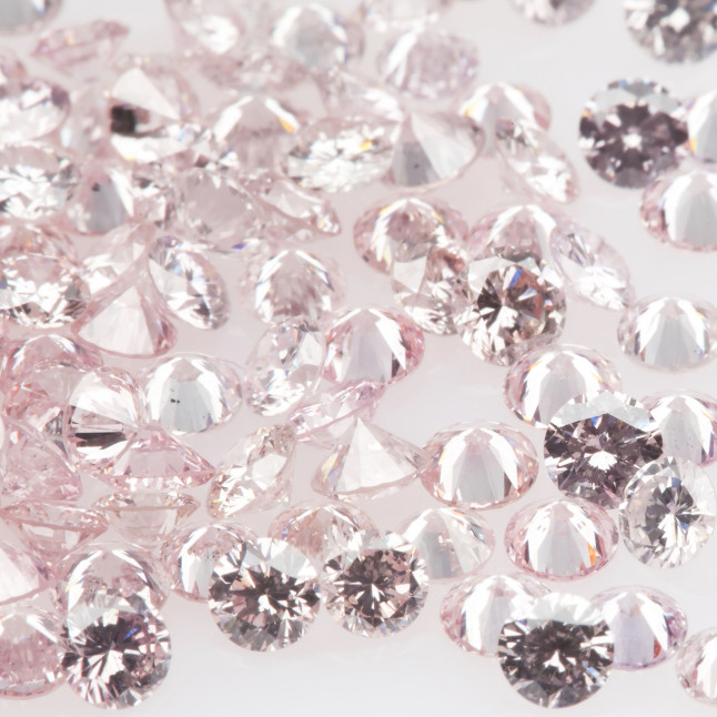 Light Pink small diamonds melee