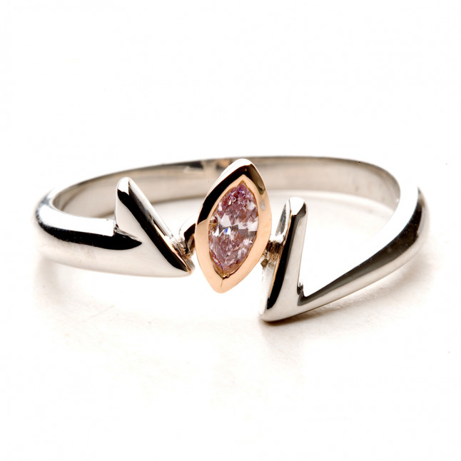 Pink Marquise Engagement Ring