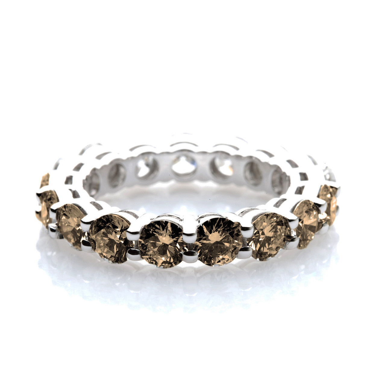 chocolate diamond wedding band - Chocolate Diamond Wedding Rings