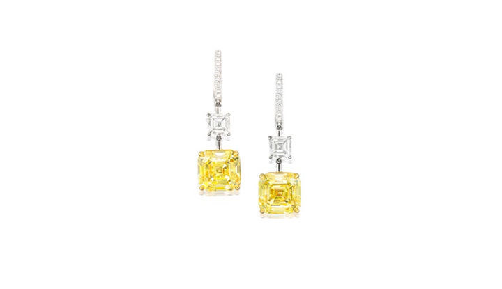 Fancy Intense Yellow diamonds Earrings - Bonhams