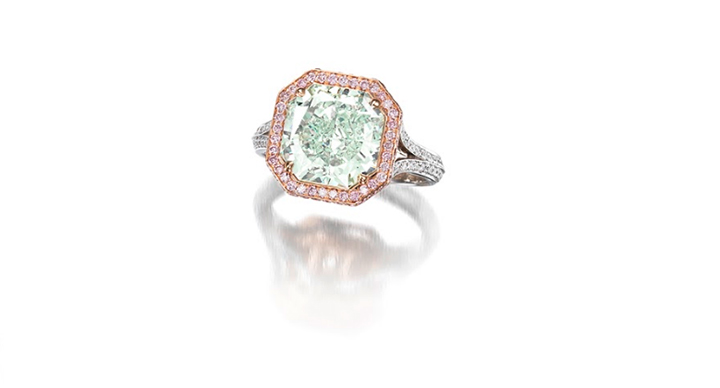 Fancy Green Diamond Ring Bonhams