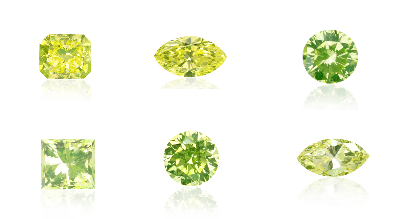 Greenery Green Lime Yellow Diamonds Langerman