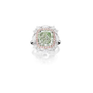 Natural Fancy Light Greyish yellowish green diamond - Bonhams