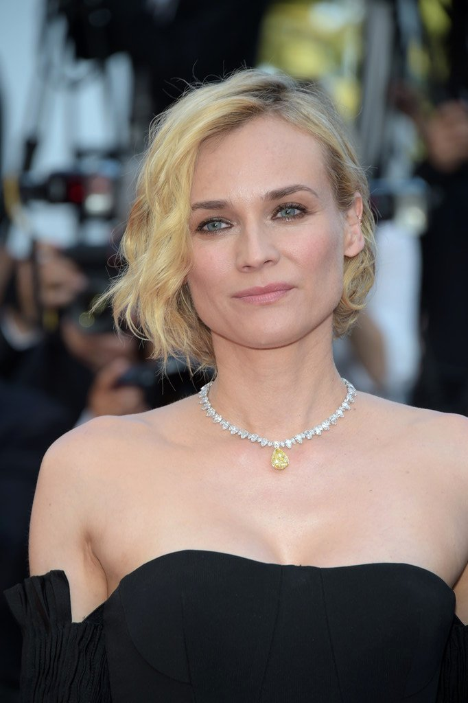Diane Kruger Best Actress Award Cannes 2017 Diamond Necklace yellow diamond pendant