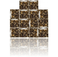 Natural Brown Diamond Square 2.46 ct Set