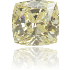 Natural Yellow Diamond Square 0.23 ct Polished