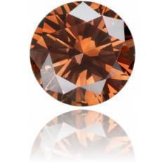 Natural Brown Diamond Round 0.19 ct Polished