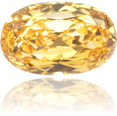 Natural Orange Diamond Oval 0.12 ct Polished