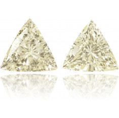 Natural Yellow Diamond Triangle 0.45 ct Set
