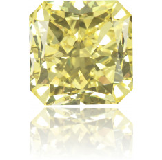 Natural Yellow Diamond Square 4.48 ct Polished