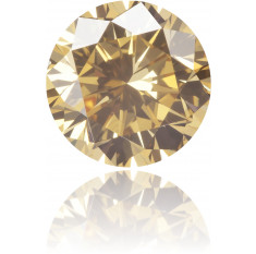 Natural Brown Diamond Round 1.39 ct Polished