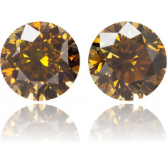 Natural Orange Diamond Round 2.04 ct Set