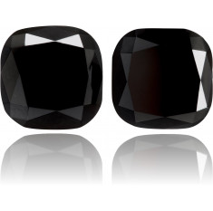Natural Black Diamond Square 3.53 ct Set