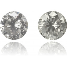 Natural Gray Diamond Round 0.47 ct Set
