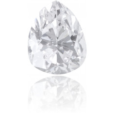Natural White Diamond Pear Shape 0.37 ct Polished