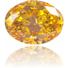 Natural Orange Diamond Oval 0.48 ct Polished