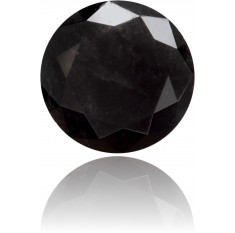 Natural Black Diamond Round 0.51 ct Polished
