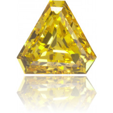 Natural Yellow Diamond Triangle 0.42 ct Polished