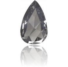 Natural Gray Diamond Pear Shape 0.32 ct Polished