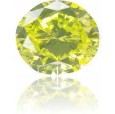Natural Yellow Diamond Oval 0.51 ct Polished