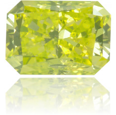 Natural Green Diamond Rectangle 0.34 ct Polished