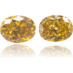 Natural Yellow Diamond Oval 1.97 ct Set