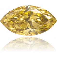 Natural Yellow Diamond Marquise 0.79 ct Polished