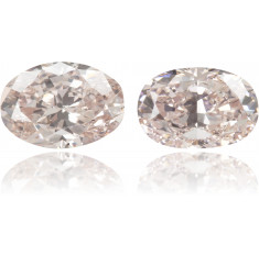 Natural Pink Diamond Oval 0.79 ct Set