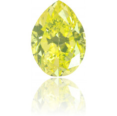 Natural Green Diamond Pear Shape 0.85 ct Polished