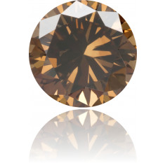 Natural Brown Diamond Round 0.58 ct Polished