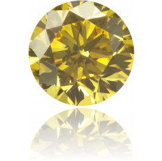 Natural Yellow Diamond Round 0.32 ct Polished