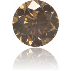 Natural Brown Diamond Round 6.19 ct Polished
