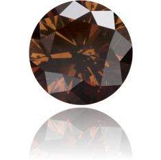 Natural Brown Diamond Round 3.36 ct Polished