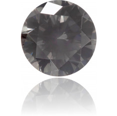 Natural Gray Diamond Round 0.33 ct Polished