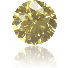 Natural Yellow Diamond Round 0.43 ct Polished