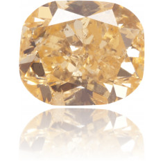 Natural Orange Diamond Cushion 0.62 ct Polished