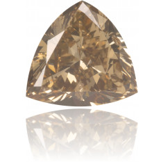 Natural Brown Diamond Triangle 0.51 ct Polished