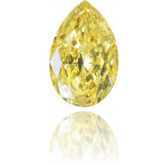 Natural Yellow Diamond Pear Shape 1.03 ct Polished