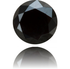 Natural Black Diamond Round 0.40 ct Polished