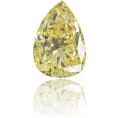 Natural Yellow Diamond Pear Shape 0.21 ct Polished