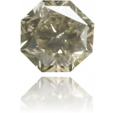 Natural Green Diamond Octagon 0.57 ct Polished