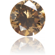 Natural Brown Diamond Round 0.34 ct Polished