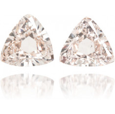 Natural Pink Diamond Triangle 1.90 ct Set