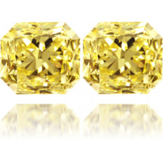 Natural Yellow Diamond Square 2.01 ct Set