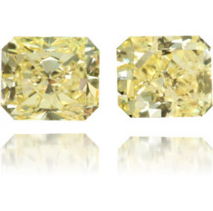 Natural Yellow Diamond Square 2.10 ct Set