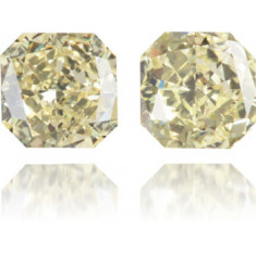 Natural Yellow Diamond Square 2.44 ct Set