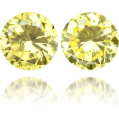 Natural Yellow Diamond Round 0.22 ct Set